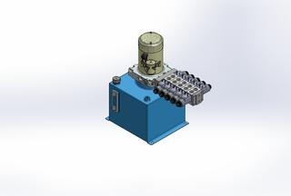 12v DC 7L/min 10-170bar 12.0L SQUARE tank / vertical mount / 5 x valve