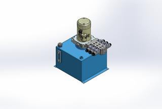 12v DC 7L/min 10-170bar 18.0L SQUARE tank / vertical mount / 3 x valve