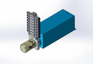 12v DC 7L/min 10-170bar 20.0L SQUARE tank / horizontal mount / 8 x valve