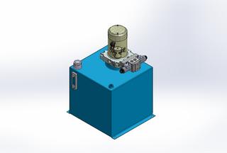 12v DC 7L/min 10-170bar 36.0L SQUARE tank / vertical mount / 1 x valve