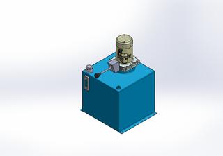 12v DC 7L/min 10-170bar 36.0L SQUARE tank / vertical mount / manual valve