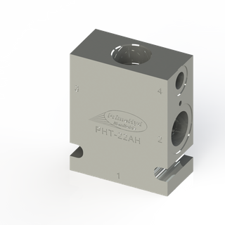 """STEEL HOUSING TO SUIT SUN HYDRAULICS CAVITY T-22A WITH 3/4"""" & 1/2"""" BSP PORTS"""