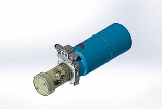 12v DC FAN ASSISTED 7L/min 10-170bar 9.0L ROUND tank / horizontal mount / 1 x valve