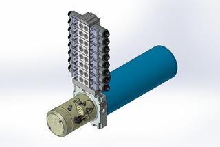 24v DC 7L/min 10-200bar 4.2L ROUND tank / horizontal mount / 8 x valve