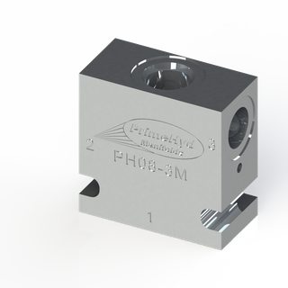 "ALUMINIUM HOUSING TO SUIT COMMON C-08-3 WITH 3/8"" BSP PORTS"