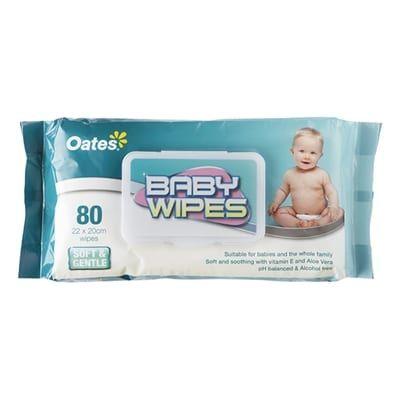 BABY WIPES 80 PK