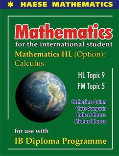 Mathematics HL OPTION Calculus