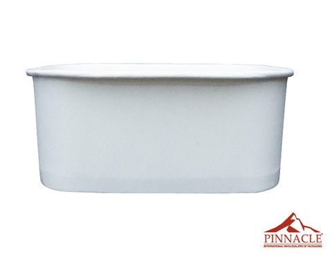 Paper PLA Rectangle Container White 1000ml 173 x 120 x 57mm