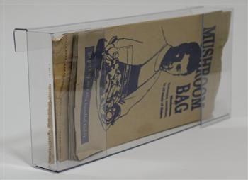 Horizontal Clear Mushroom Bag Holder 300 x 70 x 160mm
