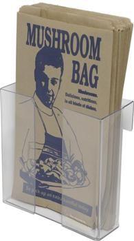 Vertical Clear Mushroom Bag Holder 180 x 75 x 180mm