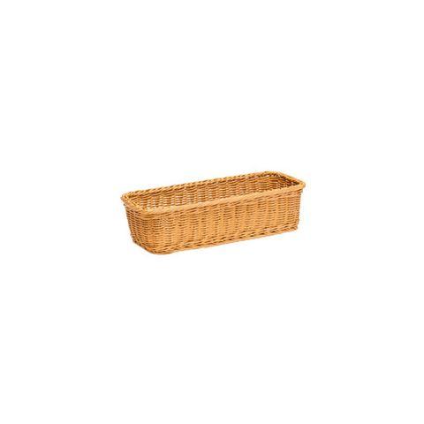 Polywicker Basket 400 x 150 x 100  mm Natural