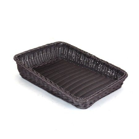 Slant-Sided Polywicker Basket 300 × 400 × 50mm
