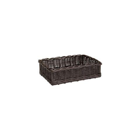 Rectangle Chocolate Polywicker Basket 400 x 300 x 100mm