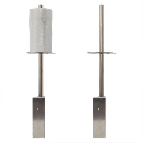 Metal Bag Dispensers Corner Mount 620Mm High