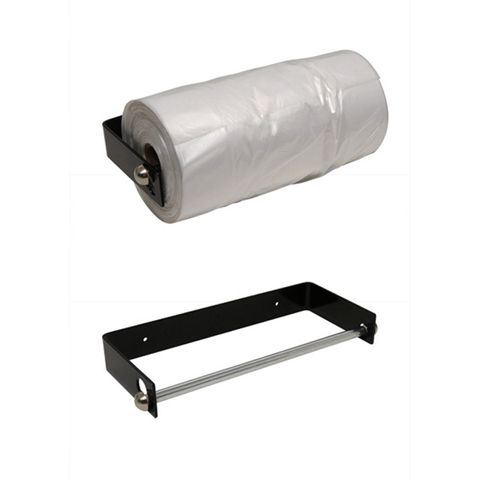Black Horizontal Bag Dispenser 290 x 130 x 40mm