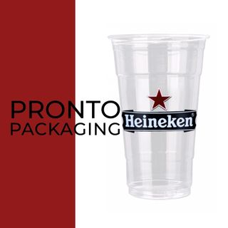 "Printed Clear Cup 20oz ""Custom"" 3 colour 98mm"