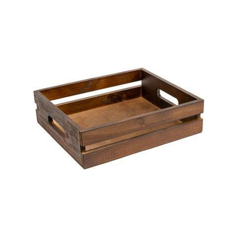Wooden Tray with Handles Small 305 x 340 x 80mm