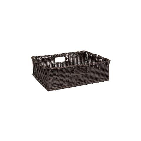 Polywicker Basket 500 x 400 x 160mm Chocolate