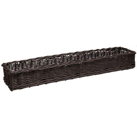 Polywicker Basket 200 x 870 x 100mm Chocolate