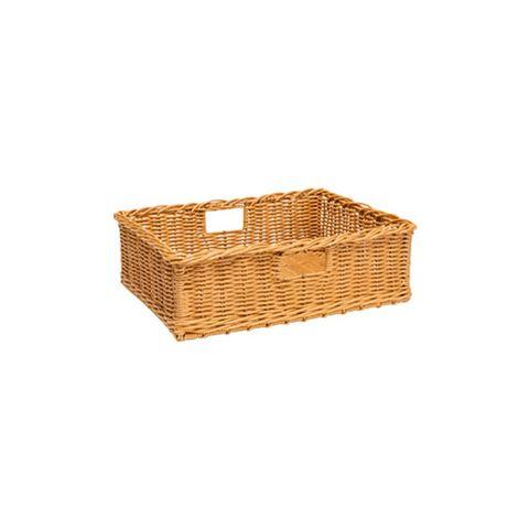 Polywicker Basket 500 x 400  x 160 mm Natural