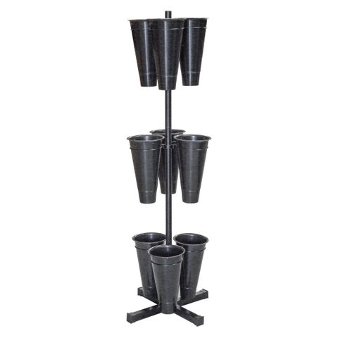 Flower Stand With 9 Pots 550 x 550 x 1680mm
