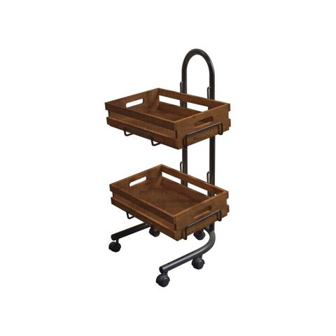 2 x Wooden Tray set - Dark Stain 500 × 500 × 850mm