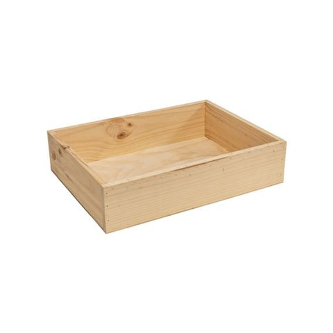 Rustic Pine Crate Small 400 × 300 × 95mm