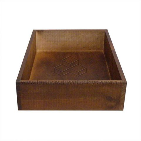 Premium Wooden Crates 400 x 300 x 90mm - Stained