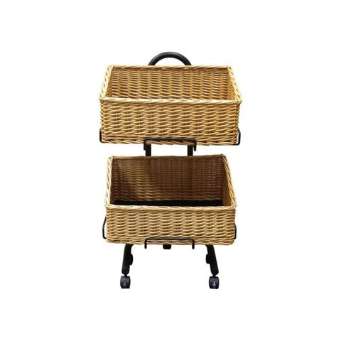 2 x Square Baskets On Stand With Wheels 500 x 500 x 850mm