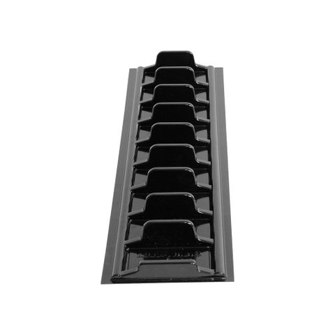 Black Pastry/Ready Meal Tray– 1 Row 140 × 500 × 30mm