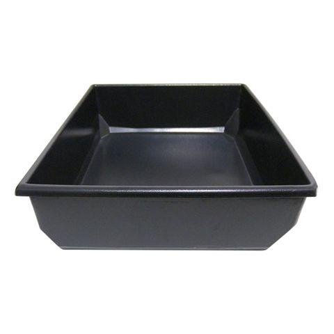Black Round Rim Medium Tub 410 × 510 × 120mm