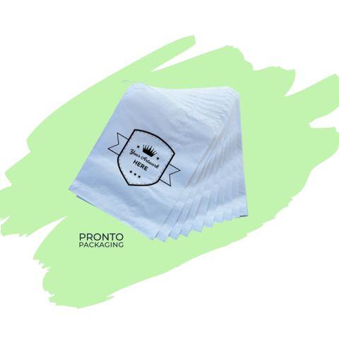 Custom Printed Paper Bag 8 Flat White 335 x 270mm 1 colour 1 sides