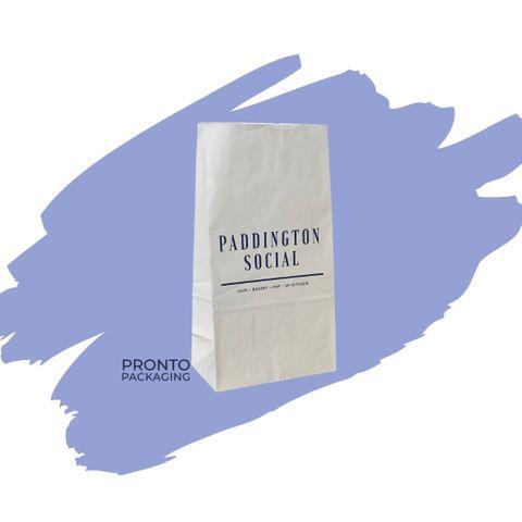 Checkout Bag Small White NO.12 340 x 180 x 110 1 colour 2 sides