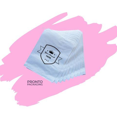 Custom Printed Paper Bag 1 Square White 200 x 165mm 1 colour 1 sides