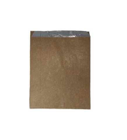 Plain Brown Small Foil Chicken Bag 200 x 165 x 55mm