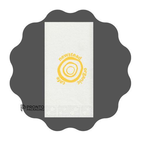 Custom White GT Dinner Napkin