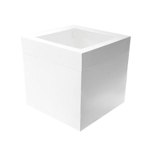 """Milkboard Cake Box 10 x 10 x 12"""" with Window"""