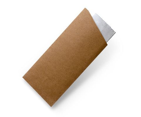Brown Kraft Cutlery Pouches with 2ply Napkin