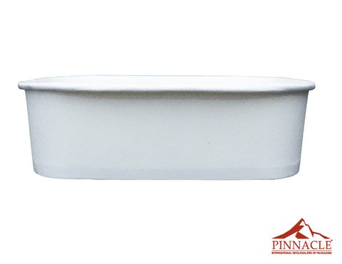 Paper PLA Rectangle Container White 650ml 173 x 120 x 51mm