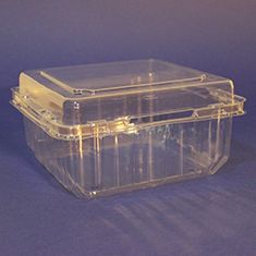 PET 850-1kg punnet with hinged lid