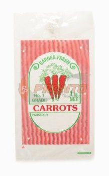 Plastic Bag 1Kg Carrot Vented