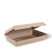 Brown Kraft Cardboard  Family Pack Clam