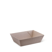 Brown Kraft Cardboard Tray #1 130 X 91 X 50 Mm