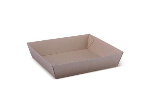Brown Kraft Cardboard Tray #2 178 x 178 x 45mm