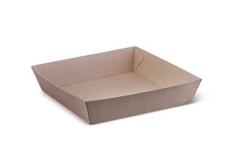 Brown Kraft Cardboard Tray #4 152 X 228 X 45Mm