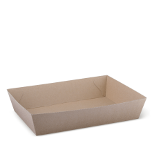 Brown Kraft Cardboard Tray #5 255 x 179 x 58Mm
