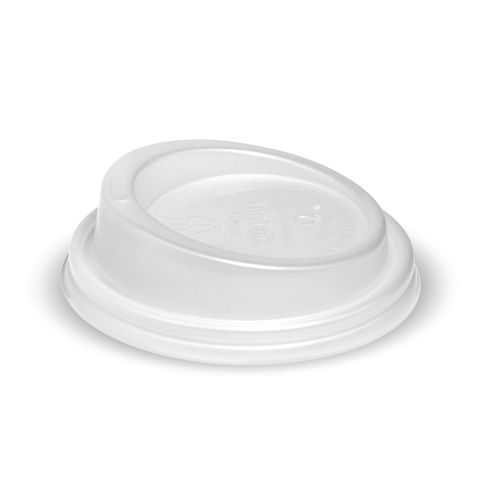 Opaque Compostable Lid for 6, 8oz BioCups 80mm Dia