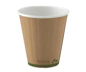 BioPak Brown Kraft 8oz Double Wall 90mm Dia