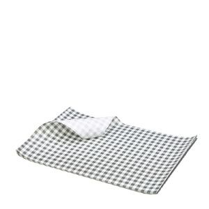 Gingham Greaseproof Paper Black/White 425 x 320