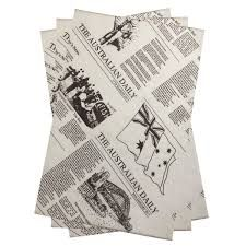 News Print Greaseproof Paper 200 x 300